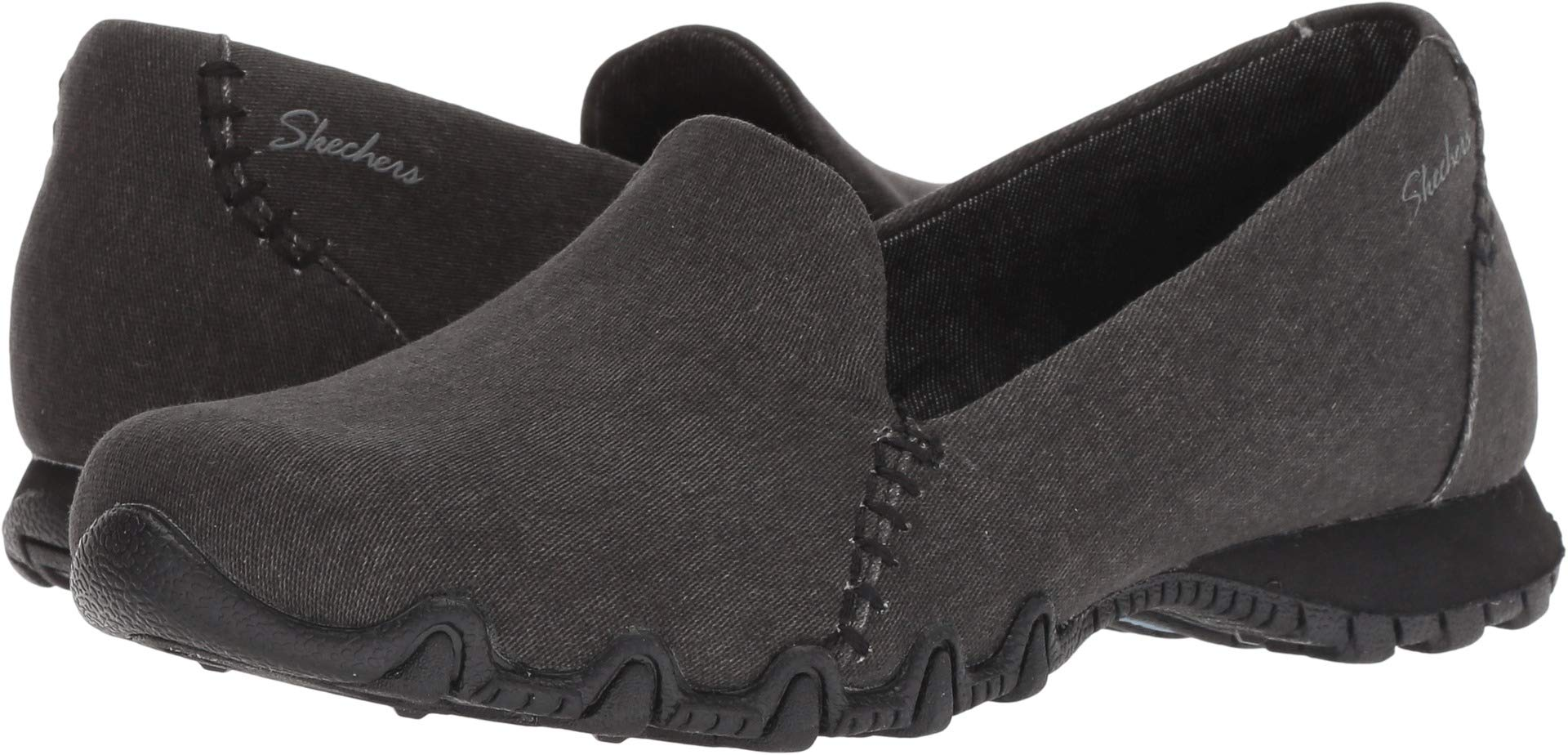 5ebe6e67eb5e0 Skechers Relaxed Fit Bikers Smokin Womens Slip On Loafers Black 7.5