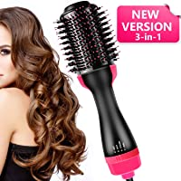AU PLUG Hair Dryer Brush, ZHUZHEN One Step Hair Dryer & Styler & Volumizer - 3 in 1 Negative Ion Hot Air Brush Comb Straightener Salon and Curly Reduce Frizz and Static
