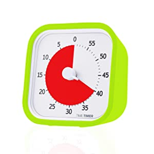 Time Timer MOD (Lime Green), A Visual Countdown 60 Minute Timer for Classrooms, Meetings, Kids and Adults Office and Homeschooling Tool with Silent Operation and Interchangeable Silicone Cover