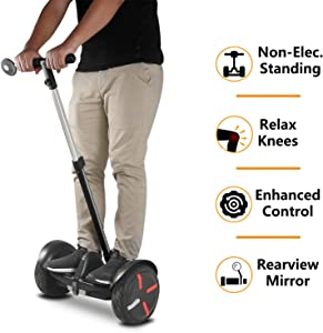 AUBESTKER Handlebar Kickstand Kit for Segway Ninebot S MiniPRO MiniLITE, Adjustable Height, Fit for Kids and Adults