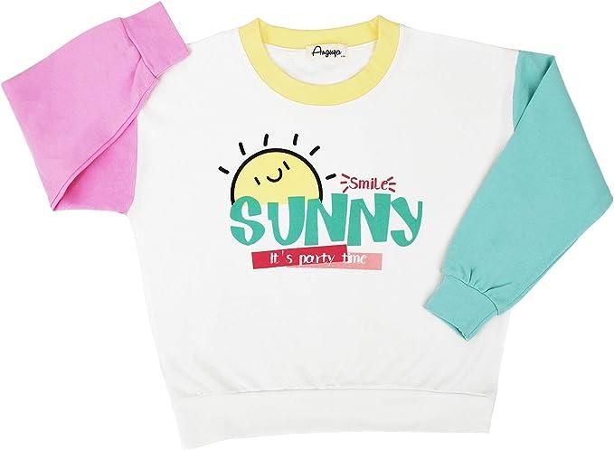 HILEELANG Kids Toddler Girl Boy Sweatshirts Crewneck Pullover Winter Long Sleeve Tops Cotton Casual Sweater Shirts