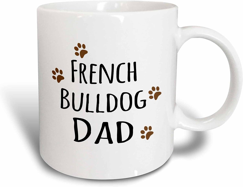 Ceramic 11 oz 3dRose 153910/_1 French Bulldog Dog Dad Mug