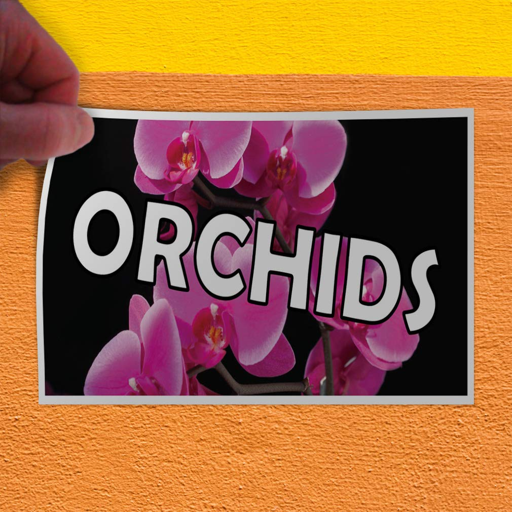 69inx46in Decal Sticker Multiple Sizes Orchids Business Style U Business Orchids Outdoor Store Sign Black One Sticker