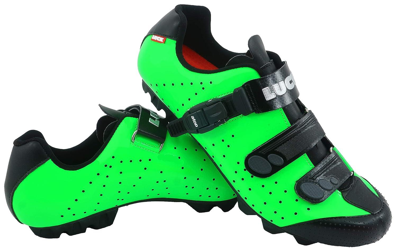 VERT LUCK Chaussures de vélo VTT ODíN avec Semelle en Carbone et Fermeture millimétrique de précision. 47 EU