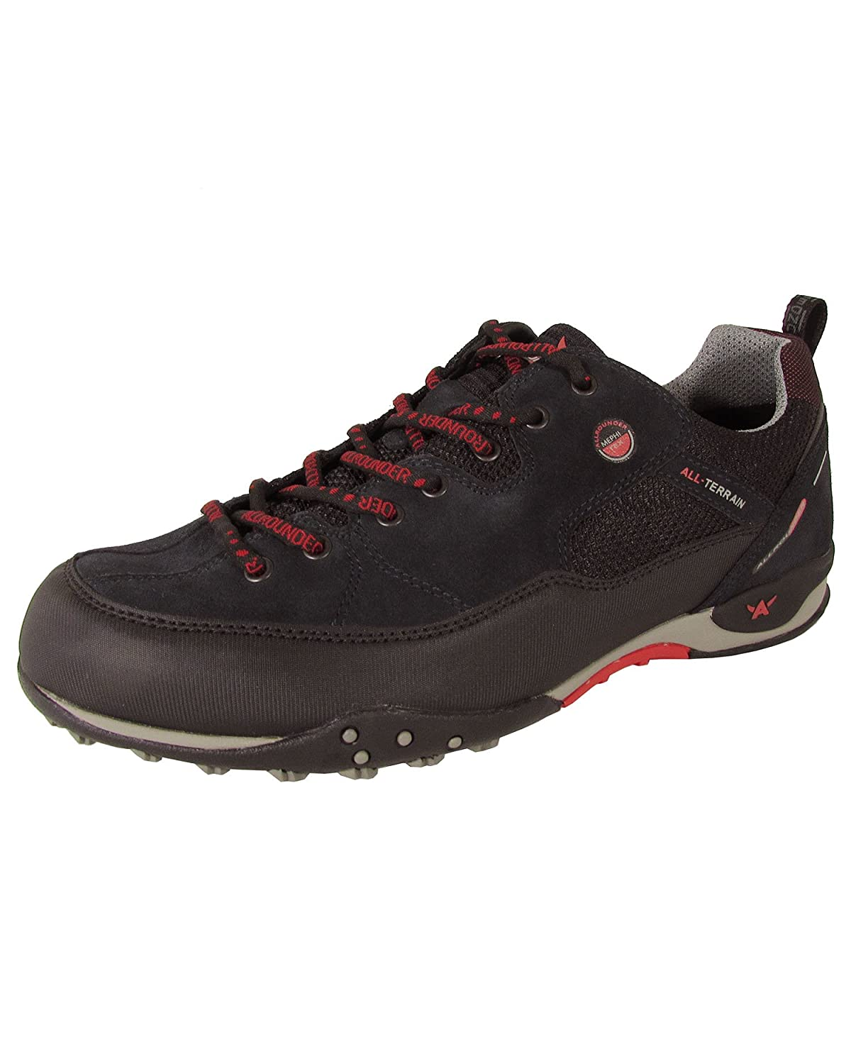 Allrounder by Mephisto Mens Tacco Tex Black Rubber/Dark Stone Suede
