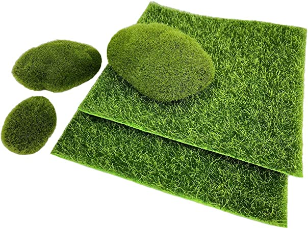 Artificial Garden Grass Fake Lawn Miniature Fairy Ornament Dollhouse Craft Decor