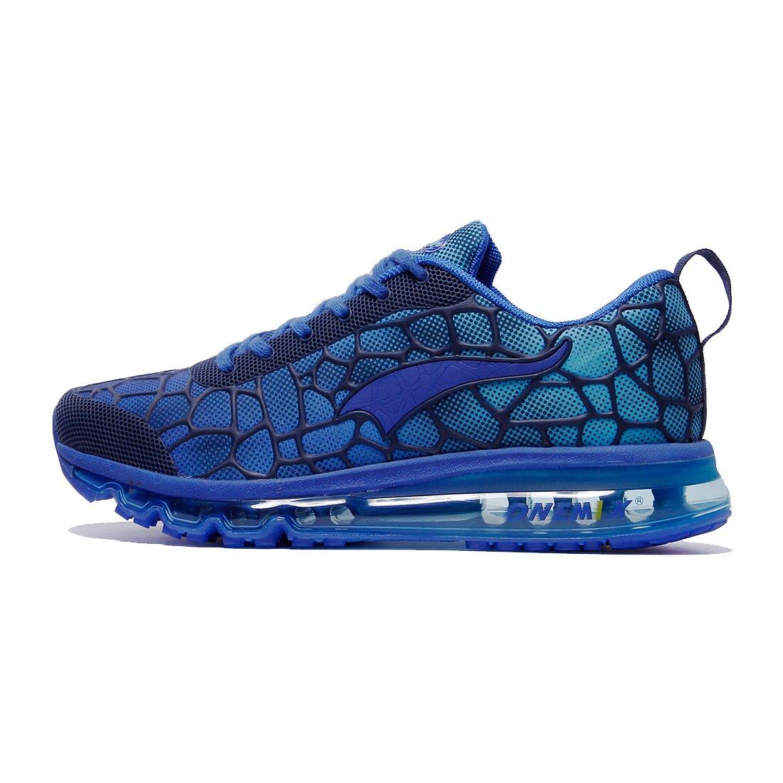 ONEMIX Hommes et Femmes Air Coussin Max Chaussures de Course Baskets pour Marche Sport Athlétique Fitness Sneaker Running