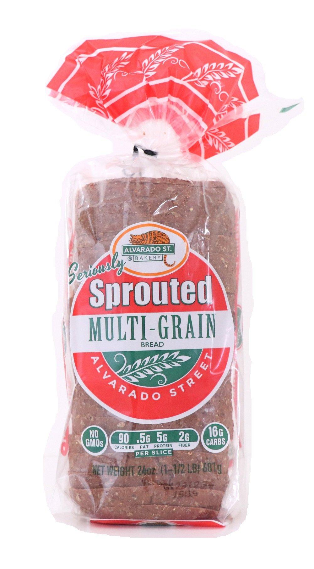 Alvarado Street Bakery Organic Sprouted Wheat Multi-Grain Bread, 24 Ounce - 6 per case.