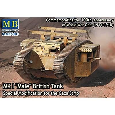 """Master Box Models WWI MK I """"Male"""" British Tank, Special Modification for The Gaza Strip (1/72 Scale): Toys & Games"""