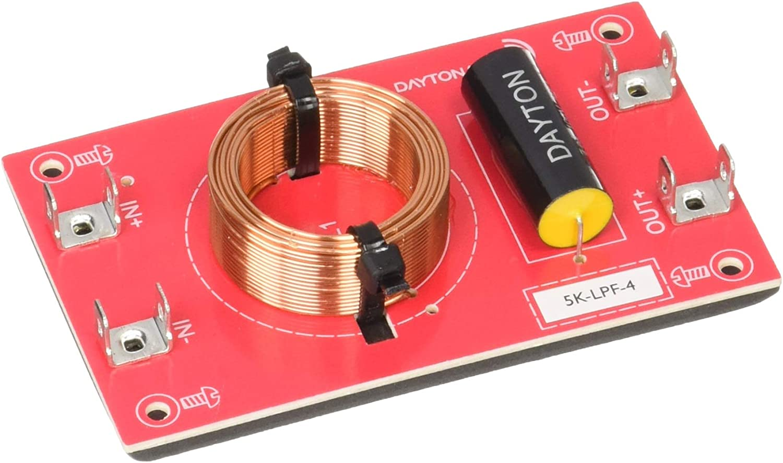 Dayton Audio 3k-LPF-4 Low Pass Speaker Crossover 3,000 Hz 12 dB//Octave