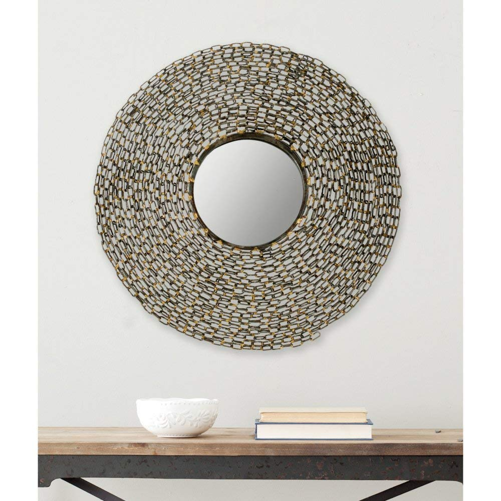 Safavieh Home Collection Jeweled Chain Mirror, Natural