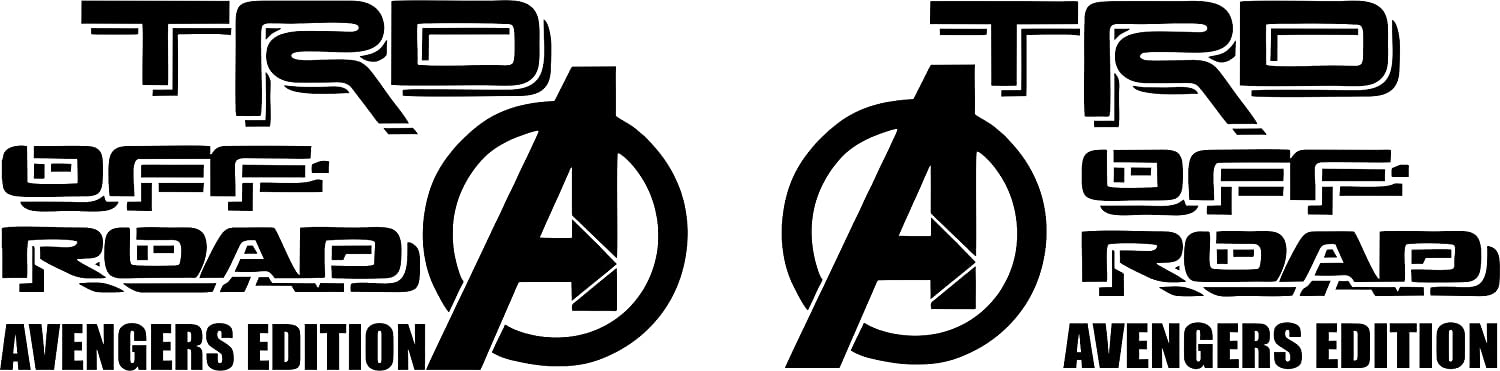 TRD Racing Stripes Decals Avengers Edition Fits Toyota Tundra 4Runner Graphics x2 Vinyl Stickers Tacoma