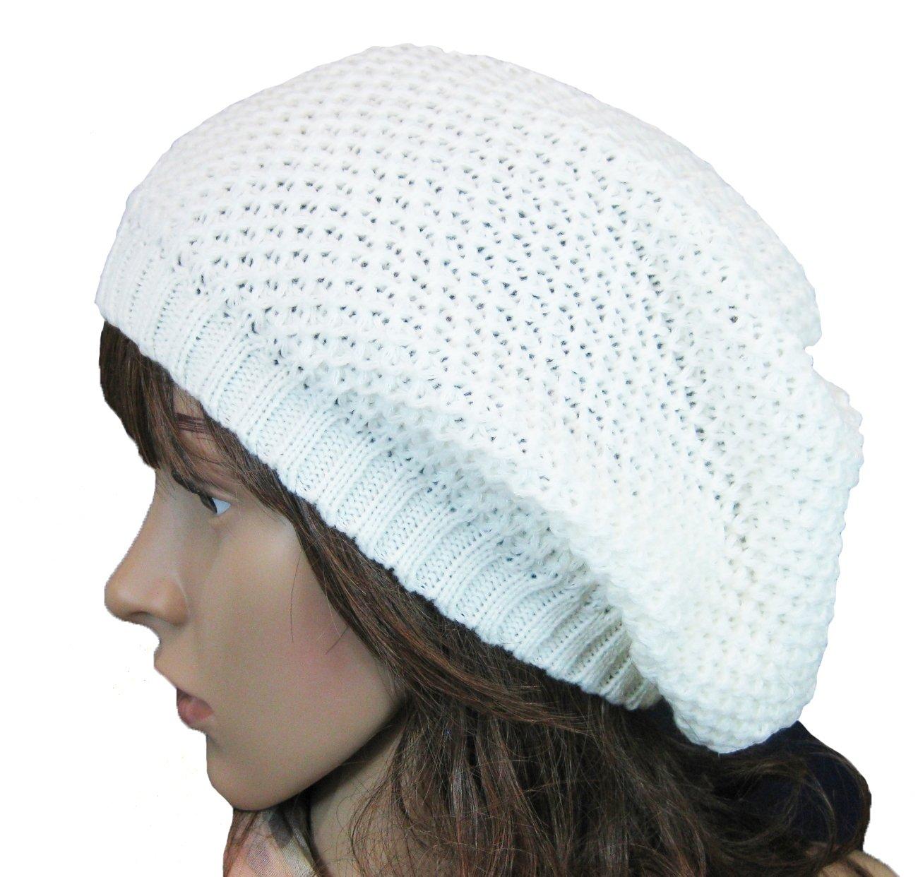 Women Men Slouchy Baggy Beanie Knit Crochet Oversized Skull Ski Hat Cap