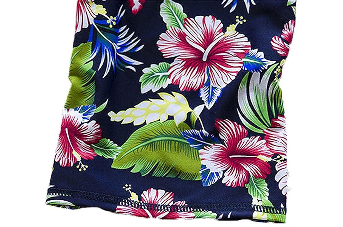Baby Girls Toddler Kids Two Piece Flower Print Long Sleeve Rash Guard UV Sun Protection Swimsuit UPF 50+