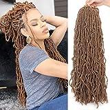 24 Inch New Faux Locs Hair 21 Strands Synthetic Crochet Twist Braiding Hair Goddess Curly Wavy Crochet Braids Hair For Women