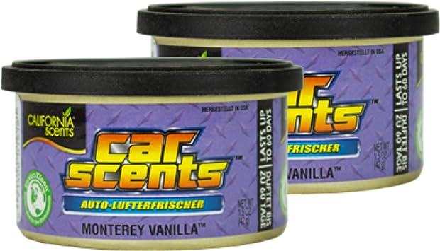 2x California Scents Car Scents Monterey Vanilla Lufterfrischer Raumerfrischer Autoduft 7026 Drogerie Körperpflege
