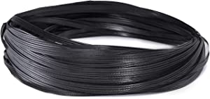 Andals 220 ft Patio Furniture Wicker Repair Kit Synthetic Rattan Material for Patio Chair Sets Replacement DIY Garden Patio Furniture Sofa Table (Black)