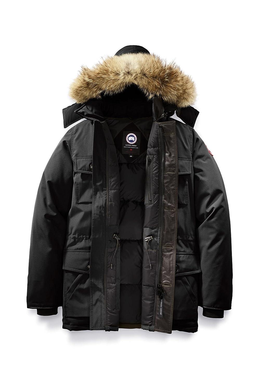 (カナダグース) CANADA GOOSE メンズ Banff Parka Men's Style # 4074M [並行輸入品] B076HG4VH1 XL|ブラック ブラック XL