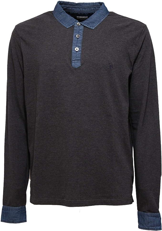 4321K Polo uomo U.S. POLO ASSN. Dark Grey Polo t-Shirt Man [L ...