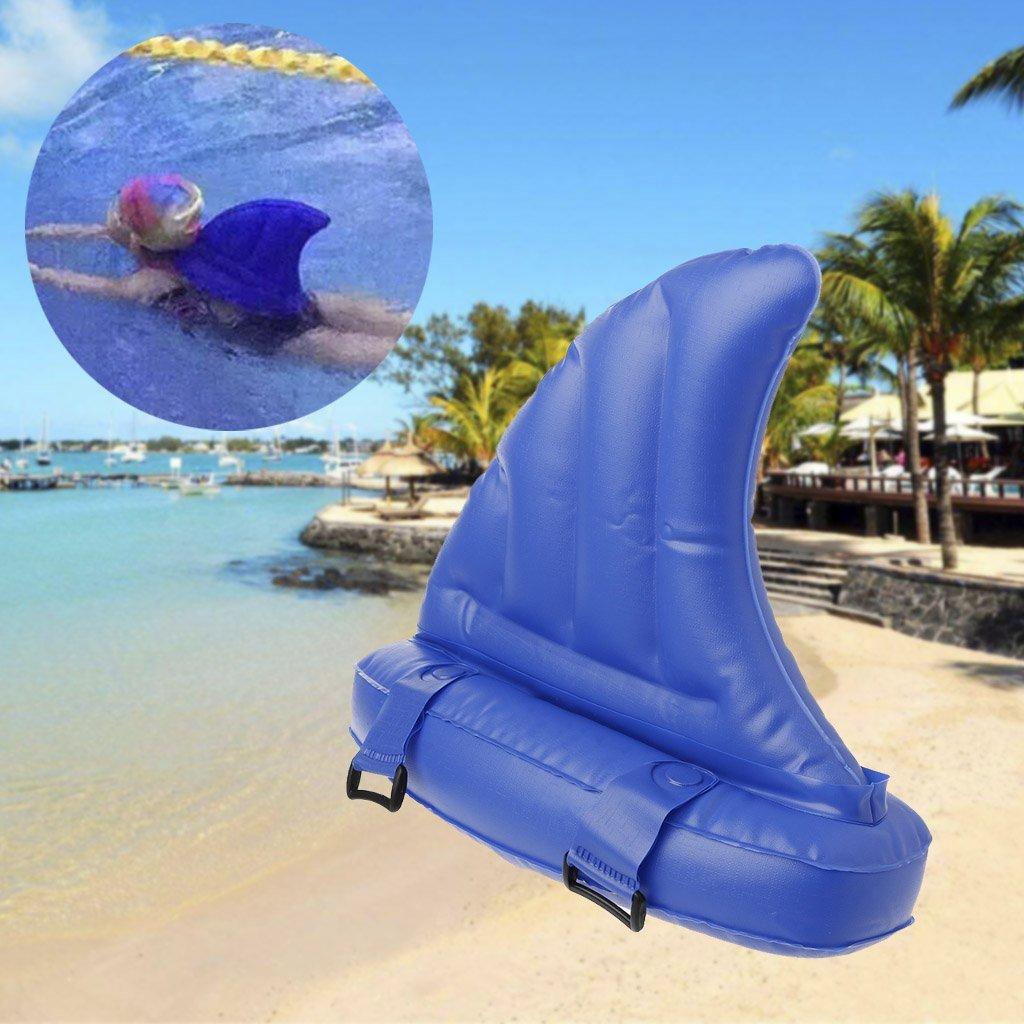 Kalttoy Anillo de natación hinchable para niños con diseño de flotadores de tiburón: Amazon.es: Deportes y aire libre