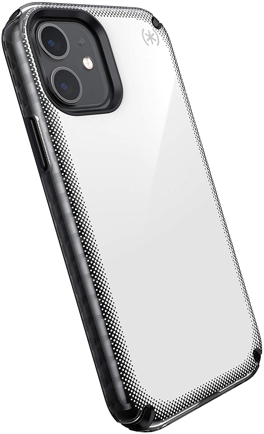 Speck Products Presidio2 Armor Cloud iPhone 12, iPhone 12 Pro Case, Clear/Black/White Hot/Black/Black