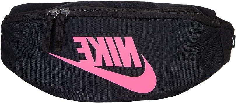 Nike Heritage hip Pack - Riñonera negro y rosa talla única: Amazon.es: Equipaje