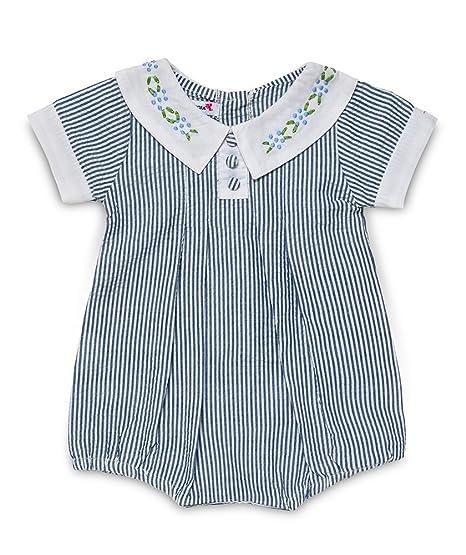 Aurora Royal bebé niñas bordado cuello Pelele de algodón ...