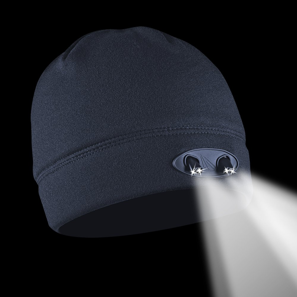 POWERCAP LED Beanie Cap 35//55 Ultra-Bright Hands Free LED Lighted Battery