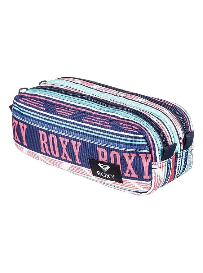 Roxy Da Rock Estuche Escolar, Mujer, Verde/Blanco (Bright White AX Boheme Border), Talla Única