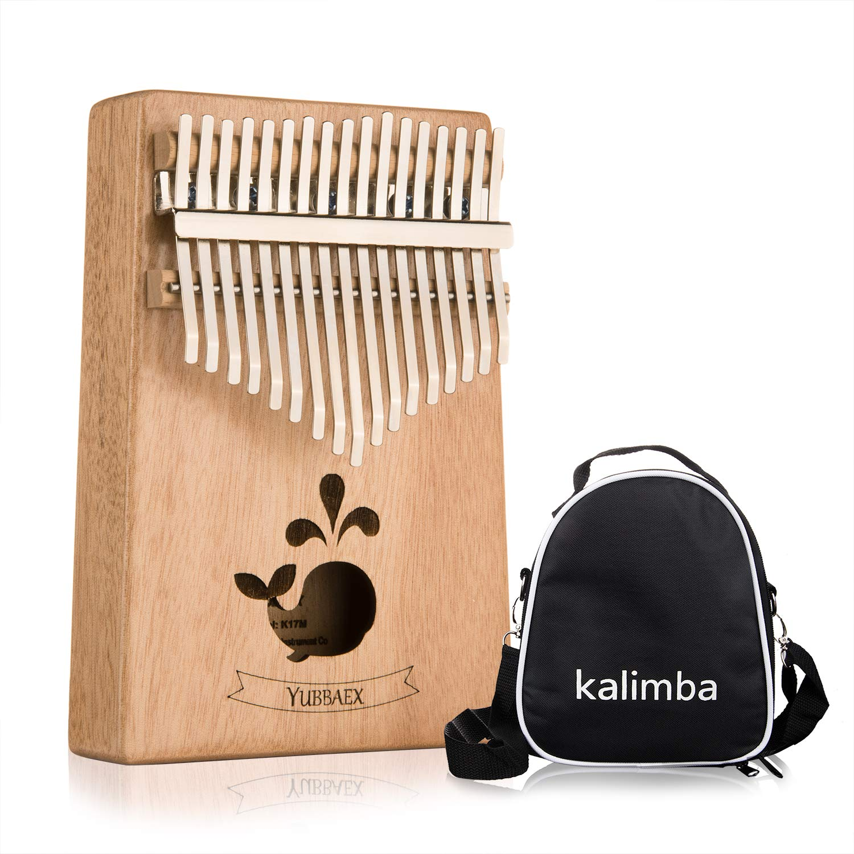 YBx Thumb Piano 17 Keys Kalimba African Animal Finger Music Instrument Gift with EVA High-performance Box (Mahogany Whale)