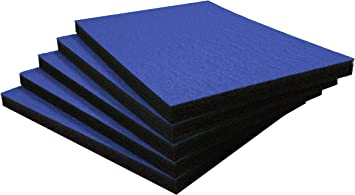 600mm x 420mm , Rojo sobre negro Profundidad de 30mm Paquete de cinco Shadow Foam Easy Peel | espuma personalizable para organizar cajas de herramientas