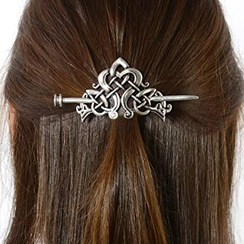 Celtic Knots Clips Hairpin Charm Alloy Hair Stick Womens Girls Hair Accessories
