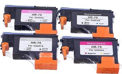 Lucky puente HP70 cabezal 4pk c4904 a c4905 a C4906 A C4907 A ...