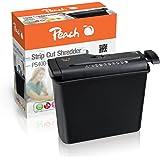 Peach PS400-15 - Destructora de papel de corte en tiras con recipiente separable (capacidad de hasta 6 hojas) color negro