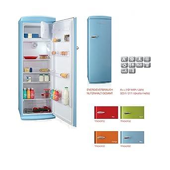 Telefunken Retro Kühlschrank Freistehend   A++   Kühl Gefrierkombi   177 Cm    288 L