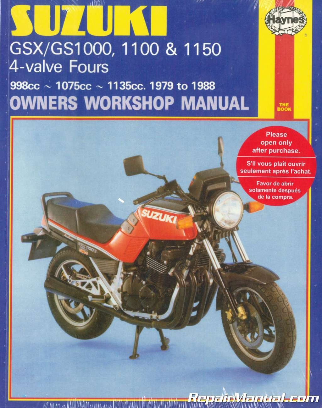 H737 Suzuki GSX GS1000 1100 1150 1980-1988 Haynes Motorcycle Repair Manual:  Manufacturer: Amazon.com: Books