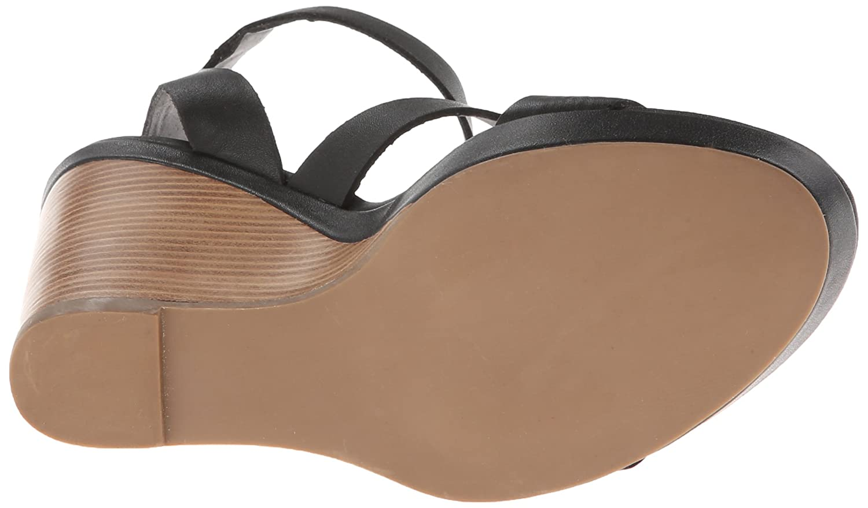 Steve Madden Women's Iris Wedge Sandal B00IRHLG6U 7.5 B(M) US|Black Paris