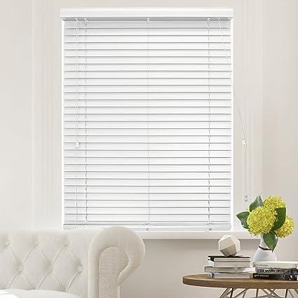 7cca2ea4f6cf1 CHICOLOGY Faux Wood Blinds 2-Inch Horizontal Venetian Slat Window Shade 47