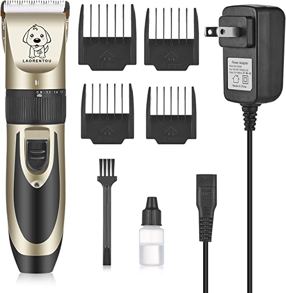 FOCUSPET Pet Grooming Clippers Professional Cordless Dog Clippers Kit 2 Speed Electric Pet Hair Trimming Clippers Set for Dogs Cats Other Animals USB Rechargeable LED Display