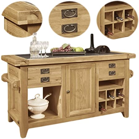 Kitchen Island Uk Panama solid rustic oak furniture large kitchen island unit amazon panama solid rustic oak furniture large kitchen island unit workwithnaturefo