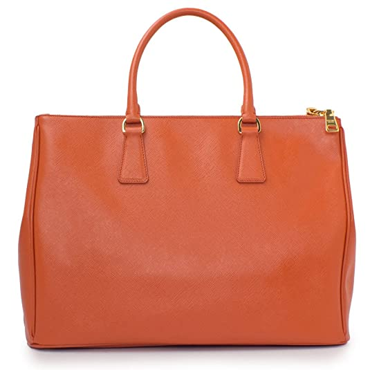 fc9edbb5e6 Prada Papaya Orange Saffiano Designer Lux Tote for Women BN1786  Handbags   Amazon.com