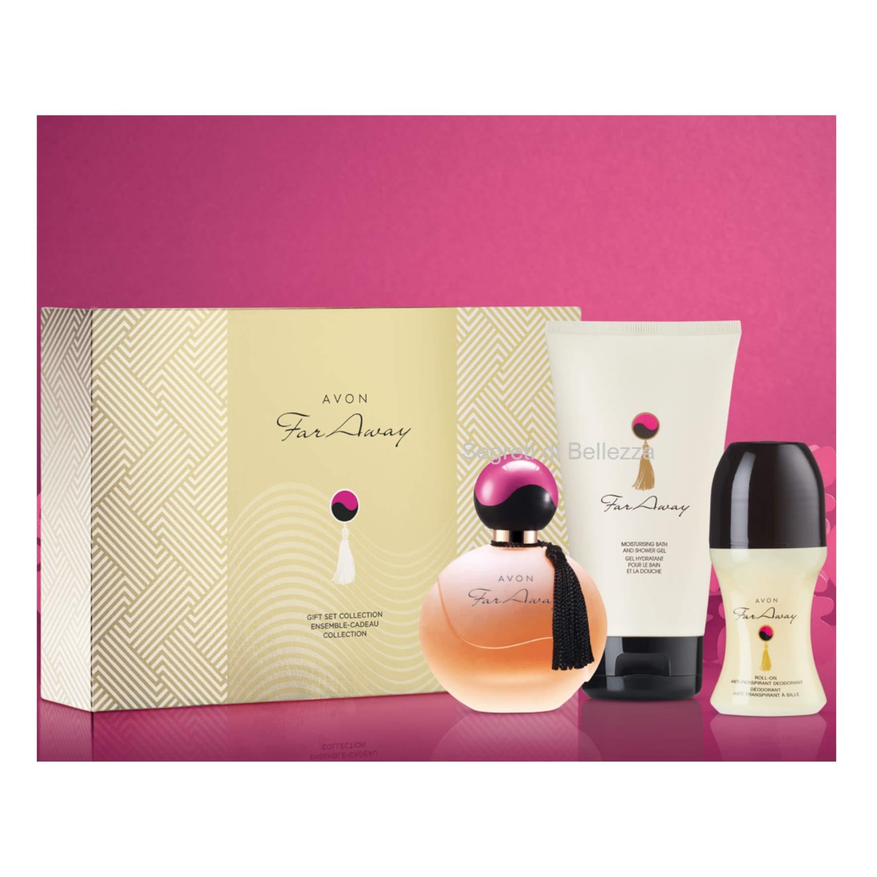 Avon Far Away Gift Collection Set | 50ml Avon Far Away EDP 150ml Body Lotion & 50ml roll on deodorant