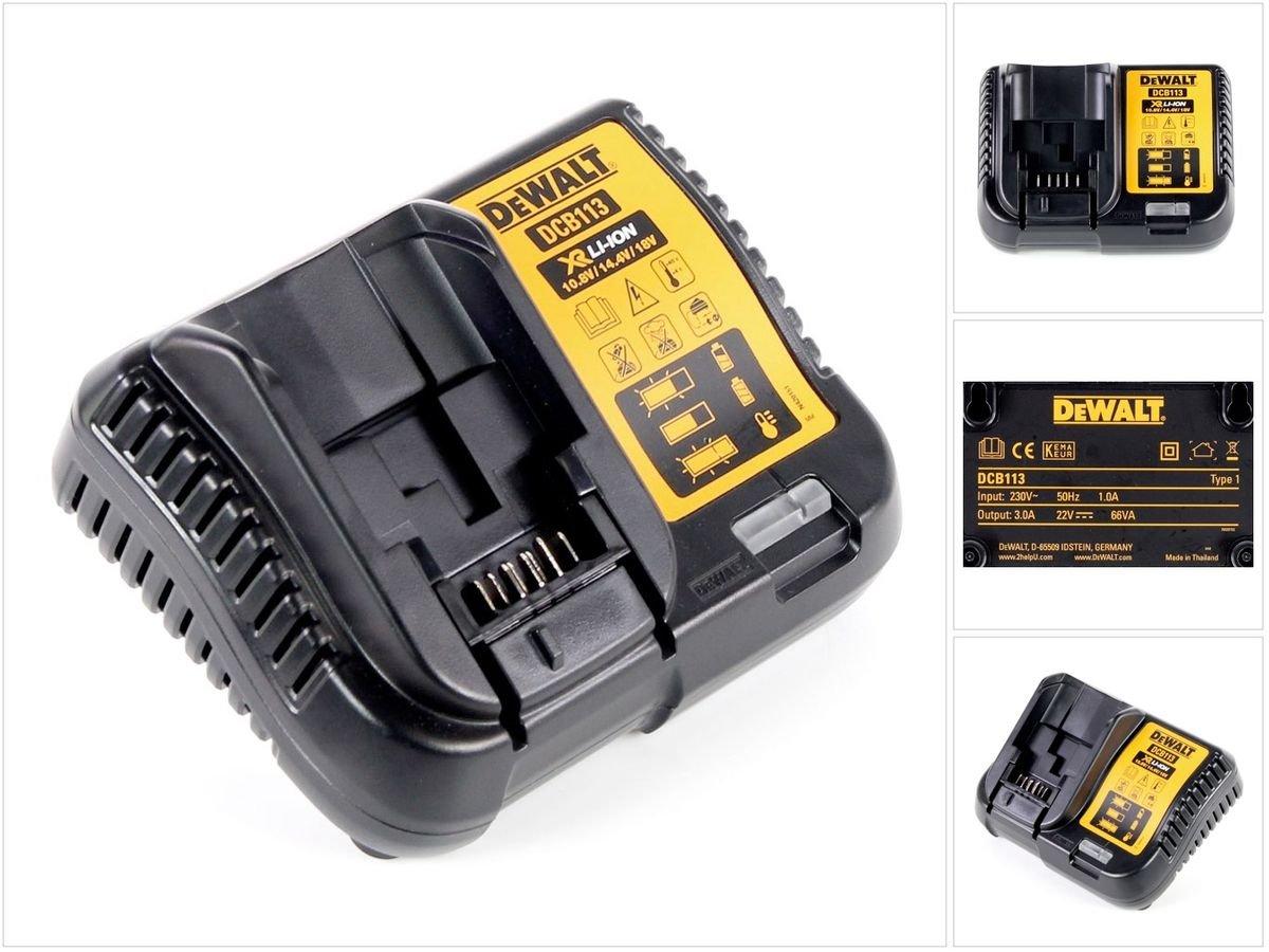 Caricabatteria Dewalt DCB 113 XR 10, 8 V di metalli per batterie agli ioni di litio 8V di metalli per batterie agli ioni di litio