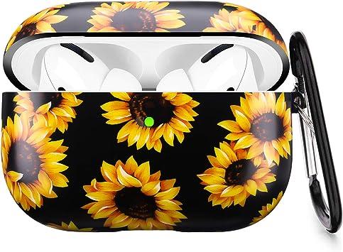 Amazon Com Airpods Pro Case Litodream Sunflower Floral Apple