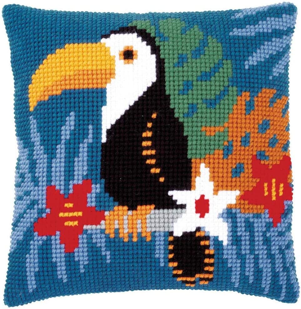 Vervaco Blue Birds Pillow Cover Needlepoint Kit