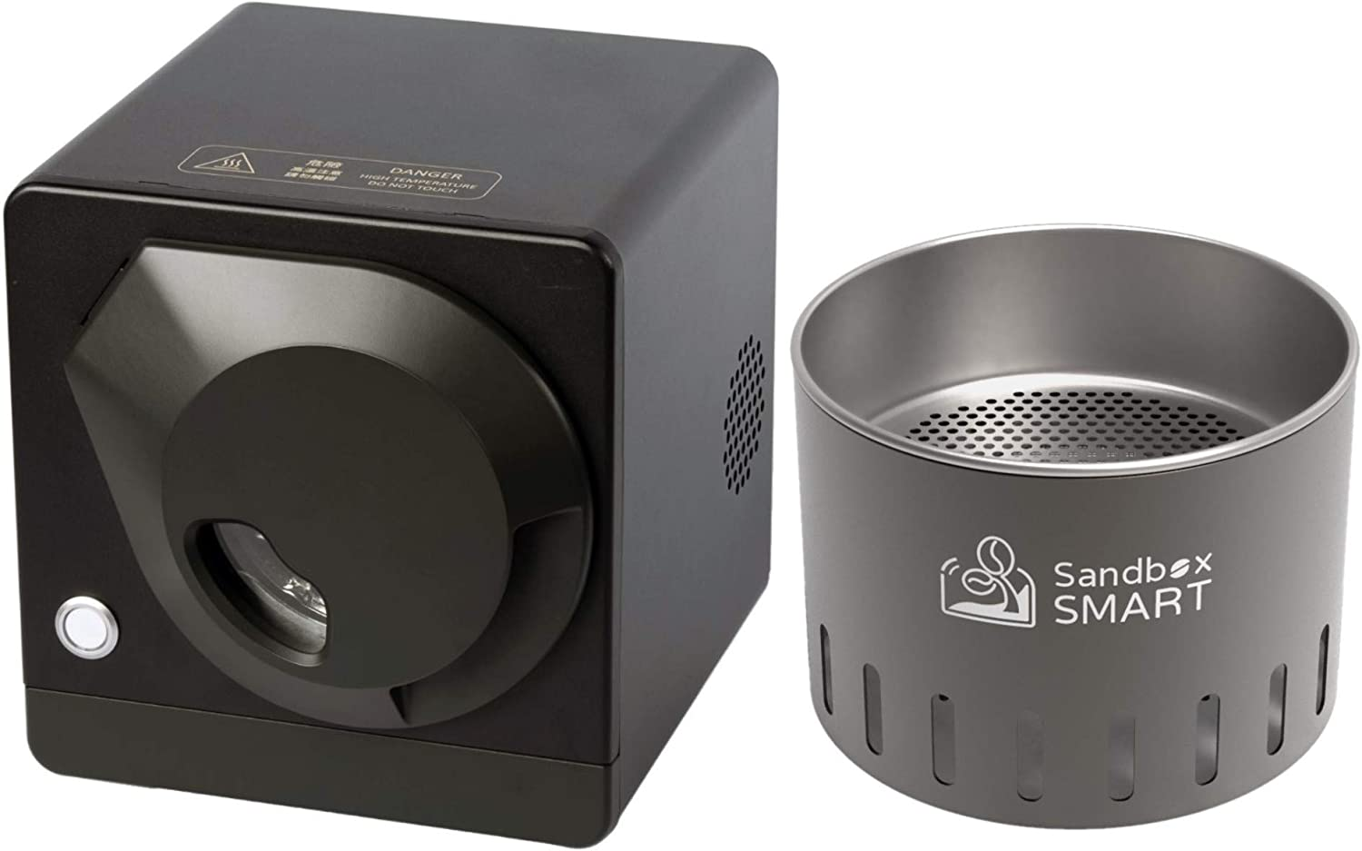 Sandbox Smart R1+C1,Coffee Bean Roaster and Cooling Tray, Coffee Bean Roasting Machine use APP for Home 220V (Black)