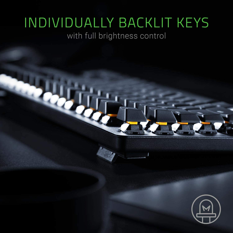 Tactile /& Silent - Matte Black Orange Key Switches IDS Home BlackWidow Lite Compact Design Mechanical Tenkeyless Keyboard