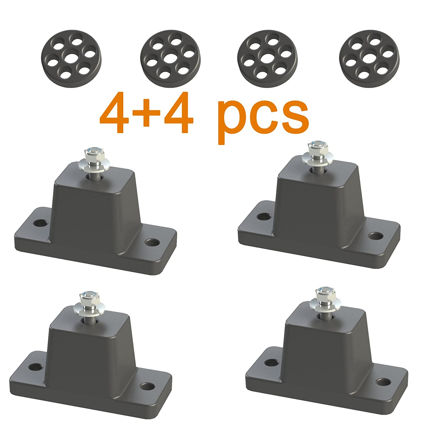 Anti-Vibration Shock Absorbing Rubber Mounting Bracket for Ductless Mini Spit Air Conditioner Condensers Jeacent Innovations RM01A-1