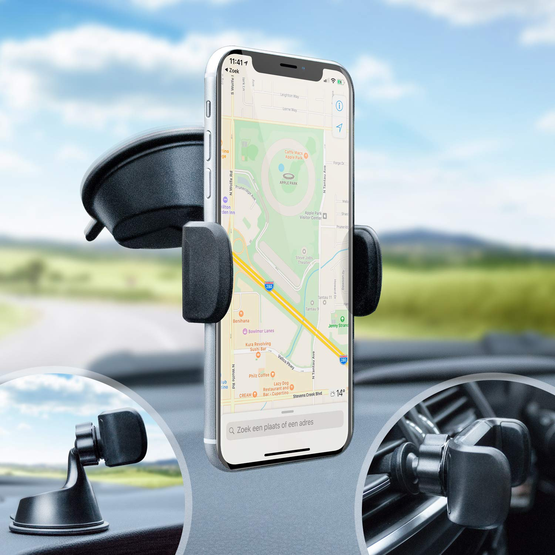 Olixar Dashboard /& Vent Smartphone Car Holder- 360 Degree Rotation /& Case Compatible TriMount Windscreen Universal Smartphone Compatibility /… OLX-MAGNETIC-VENT-CAR-HOLDER