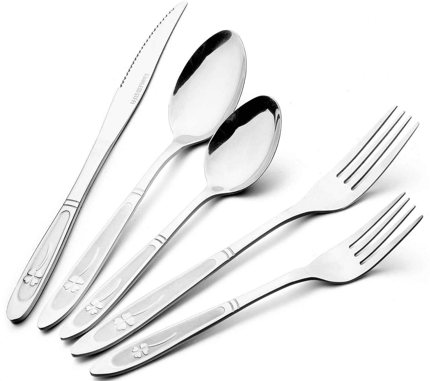 Flatware Cutlery Set, Wifond Stainless Steel Silverware Set for 4 - Mirror Polish Dishwasher Safe for Home Hotel Restaurant